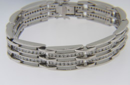 Vintage Very Fine 5.4ctw Round Cut Diamond Estate Bracelet in 14k White Gold