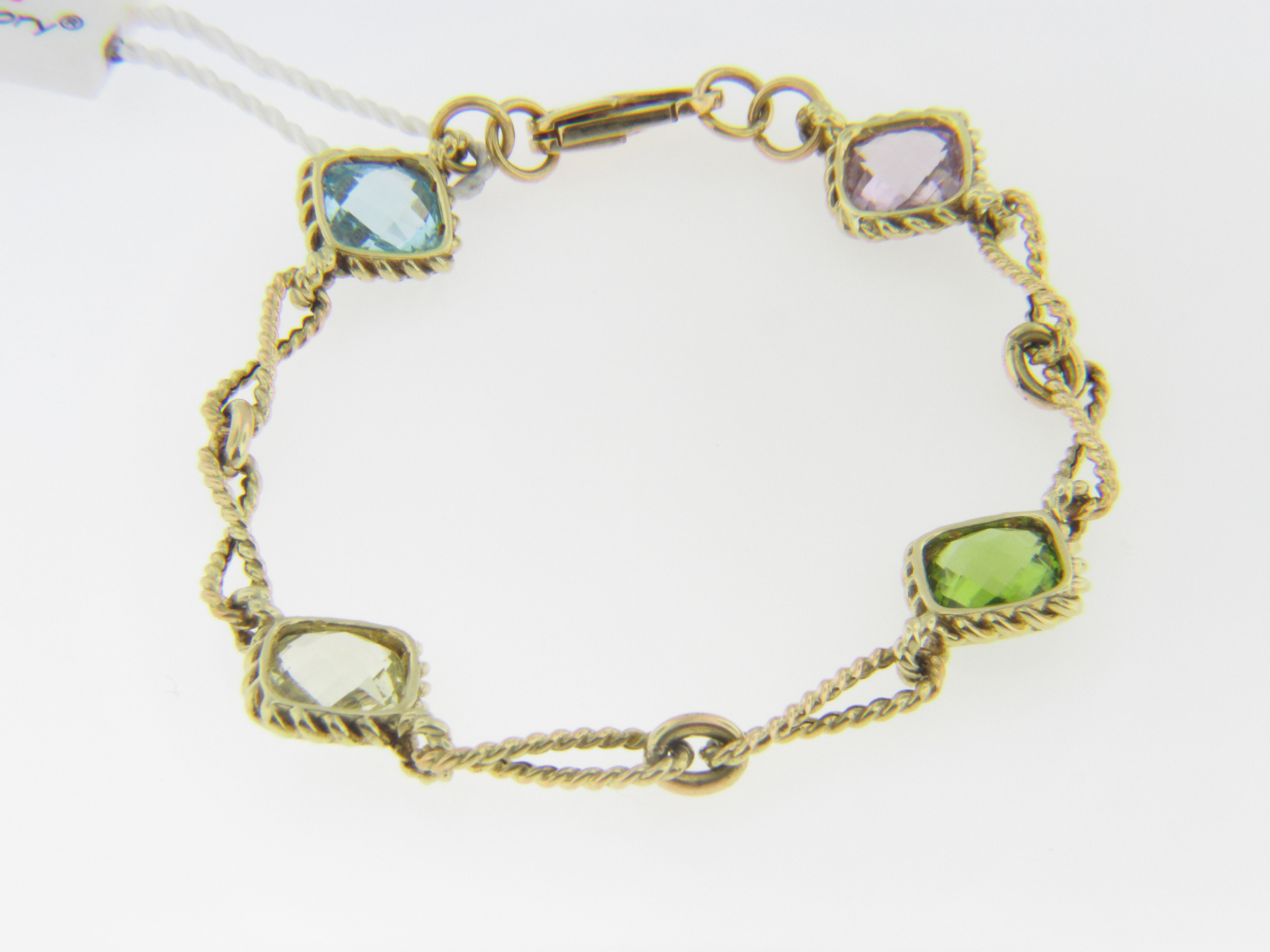 p multi gemstone colored bracelet sapphires gold tourmaline tone diamond cabochon and m three