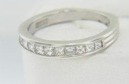 Vintage Scott Kay 0.65ctw Princess Cut Diamond Band Ring in Platinum Size 6