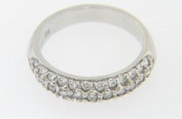 Vintage Antique 0.61ctw Round Diamond Pave Band Ring in Platinum Size 6
