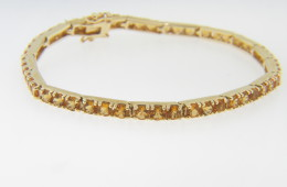 Vintage Very Fine Round Citrine Bracelet in 14k Yellow Gold