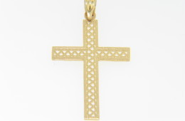 Timeless Fine Open Design Christian Cross Pendant in 14k Yellow Gold