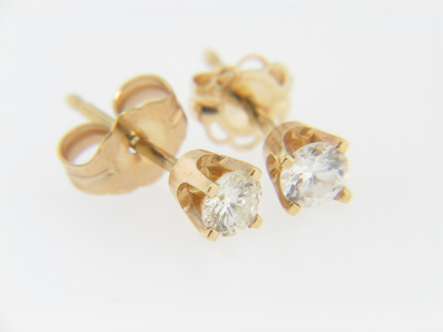 Vintage Timeless 0.50ctw Round Diamond Stud Earrings in 14k Yellow Gold