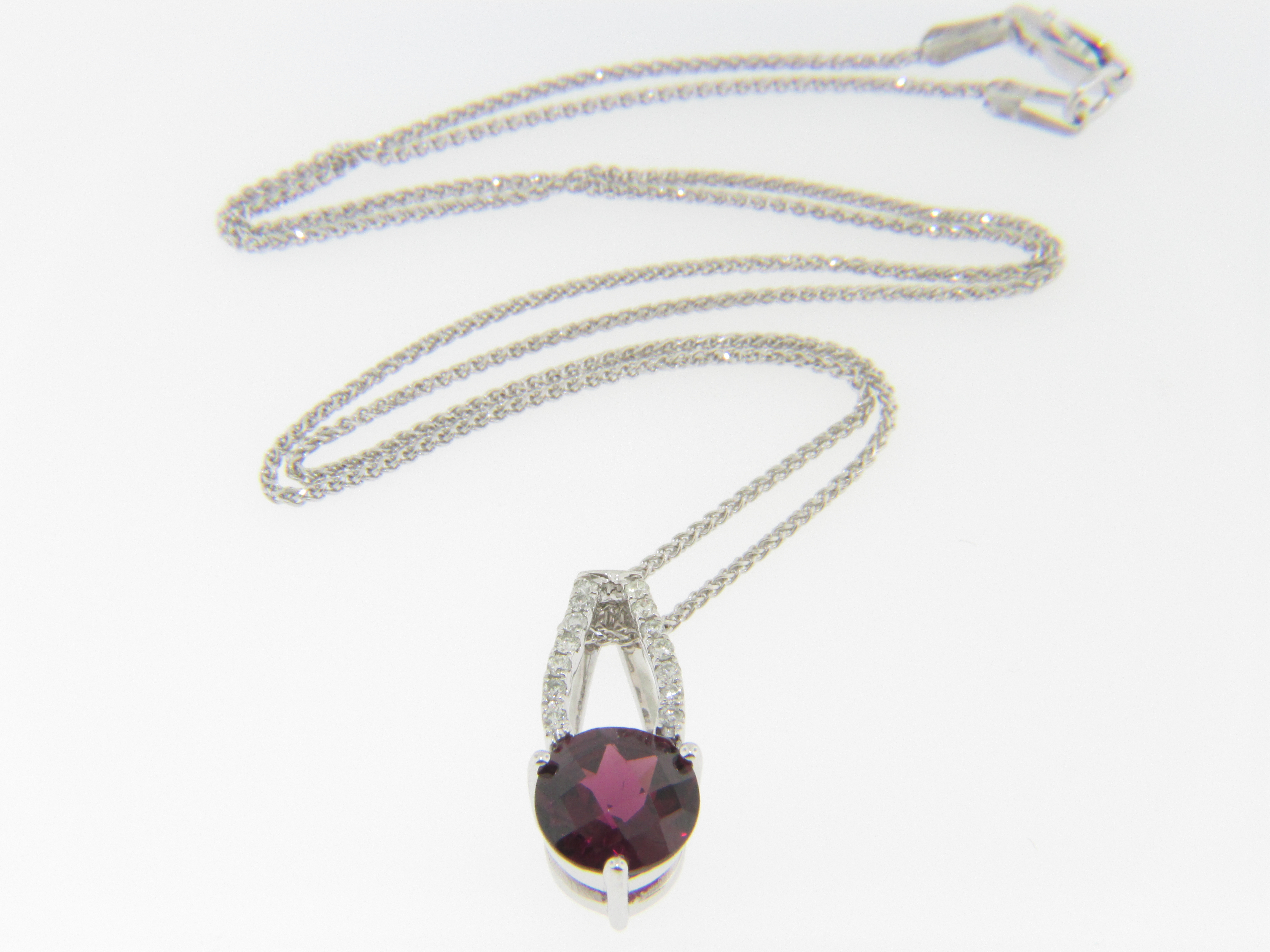 garnet gold rhodolite fullxfull rose listing necklace and il pendant halo diamond