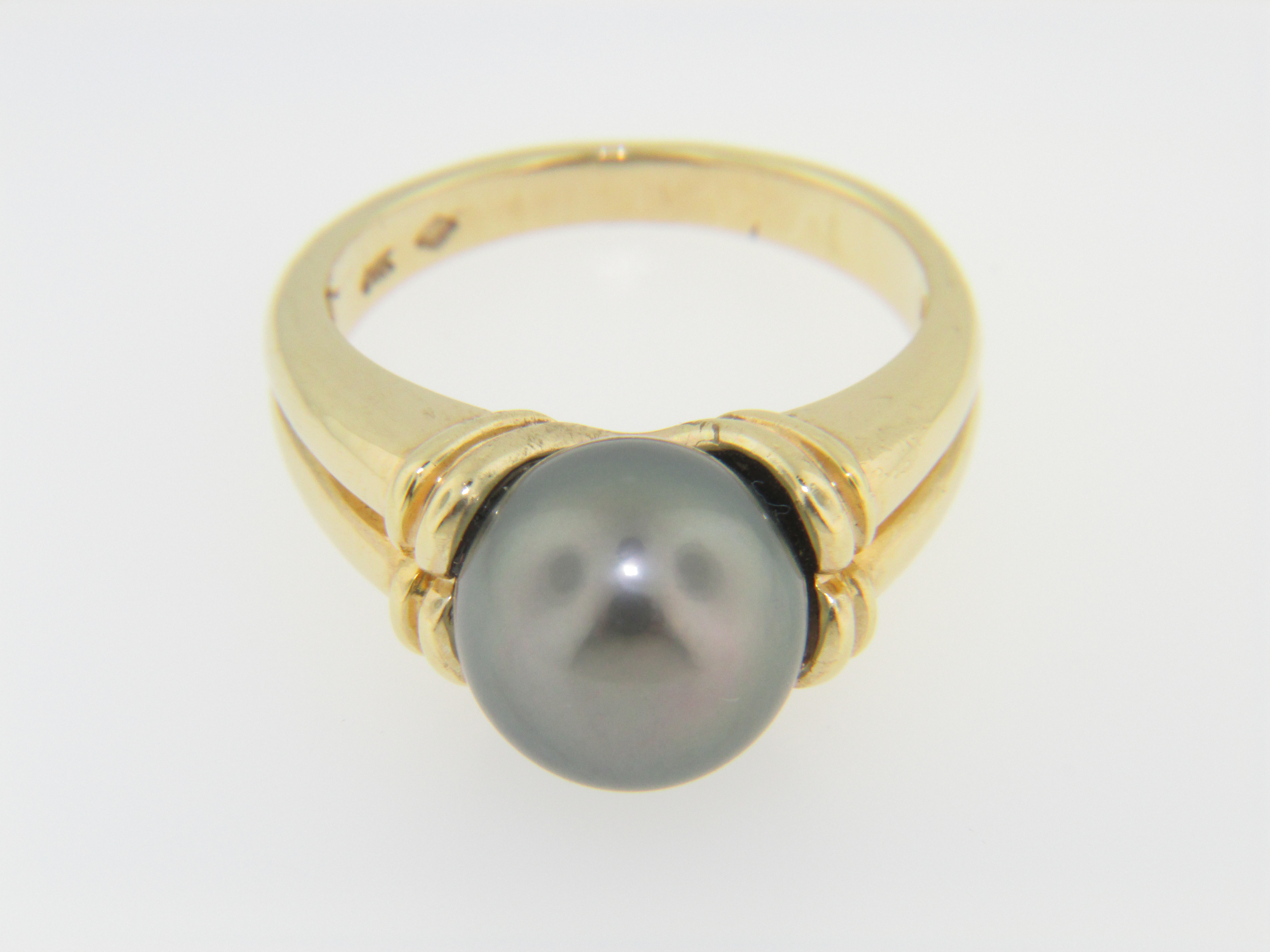 Contemporary 10 0mm South Sea Pearl Ring In 14k Yellow