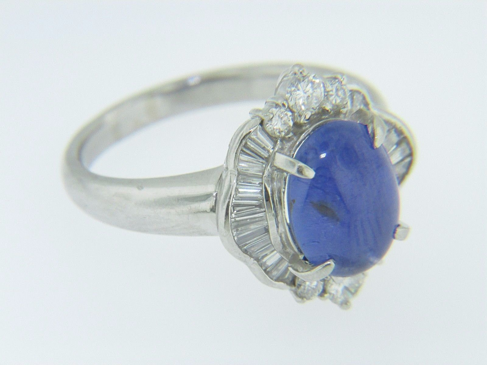 synthetic sapphire star products size white ring cocktail ladies diamond blue gold