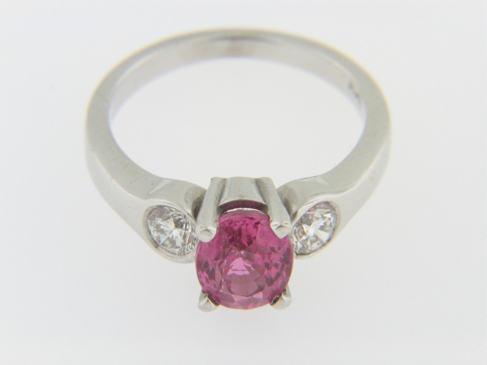 Contemporary 2 42ctw Oval Pink Sapphire Amp Diamond Three