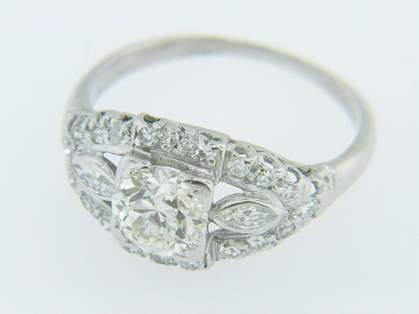 diamond in and filigree mine ring edwardian floral orange rambling estate gold engagement rose cut vintage rings white