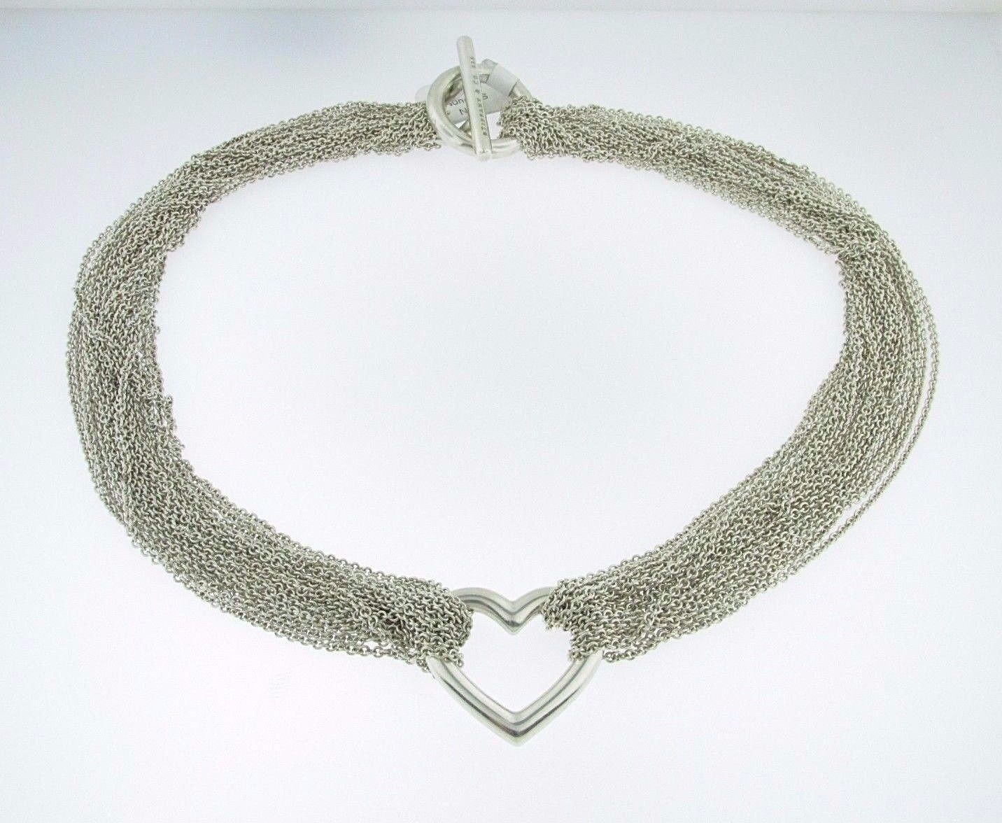 0ee33d97d4807 Tiffany & Co. Heart Multi Chain Mesh Toggle Necklace in .925 ...